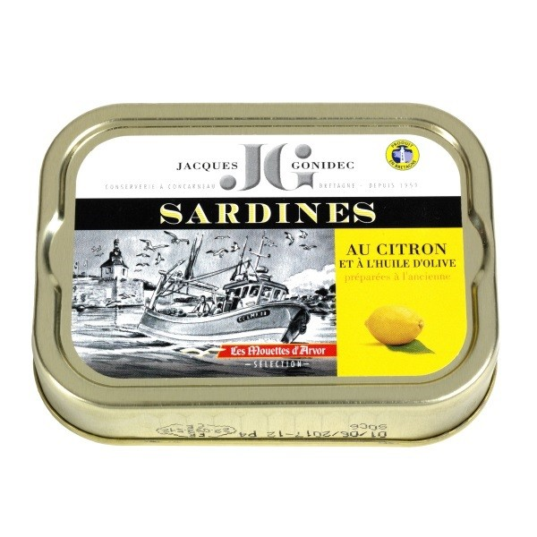 Gonidec - Sardinen in Olivenöl mit Zitrone 115 g