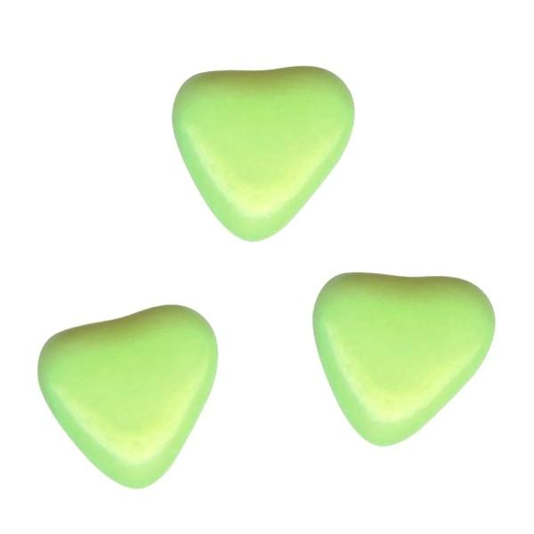 Herzchen Schokoladendragées Hellgrün