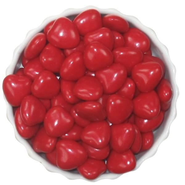 Herz Marshmallowdragées (Guimauve) in Rot