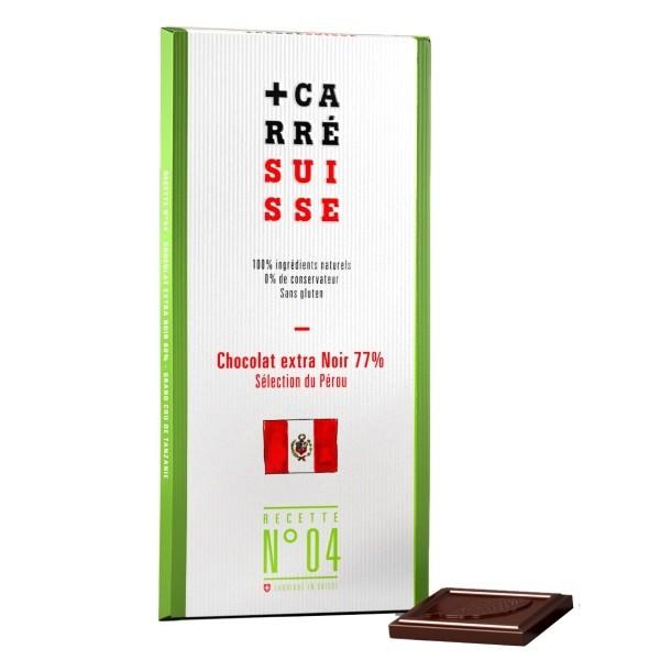 Carré Suisse - Edelbitterschokolade 77%, Peru