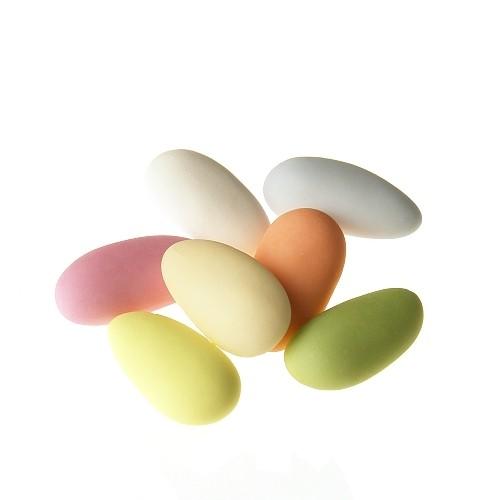 Mandeldragées, 43% Mandellanteil Multicolor
