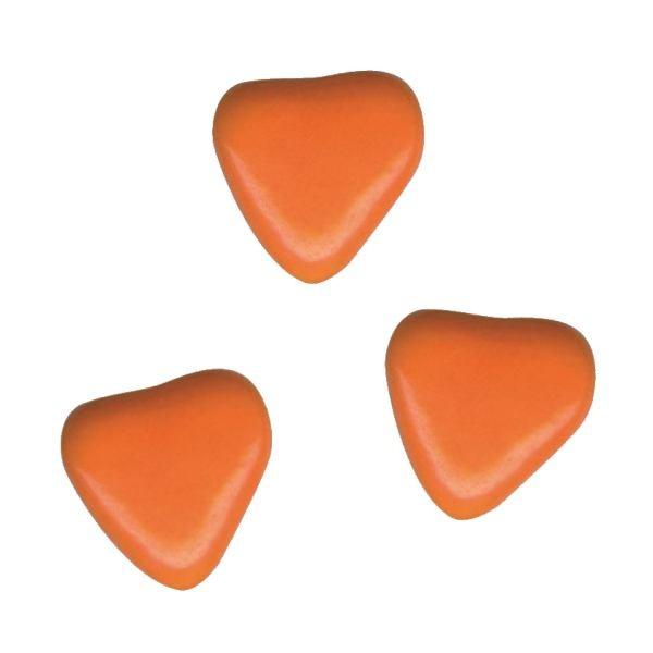 Herzchen Schokoladendragées Orange