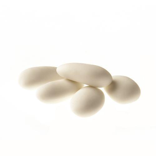 Mandeldragées, 43% Mandellanteil Weiß