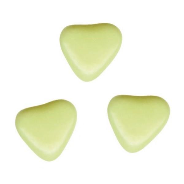 Herzchen Schokoladendragées in Wassergrün