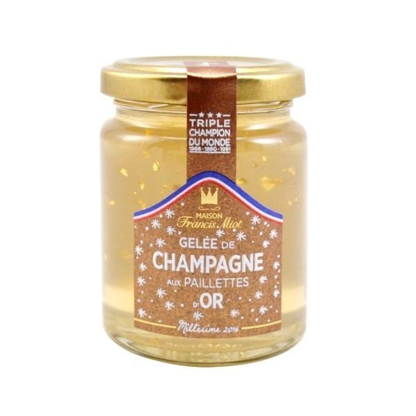 Miot - Champagner Gelee mit Goldpailletten  100 g
