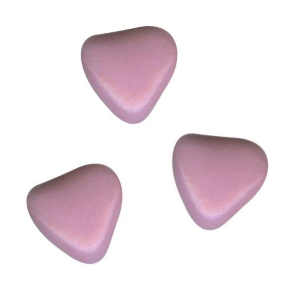 Herzchen Schokoladendragées Flieder