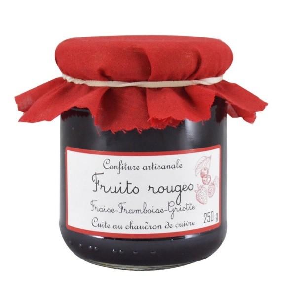 Rote Früchte-Konfitüre - Erdbeer-Himbeer-Sauerkirsche