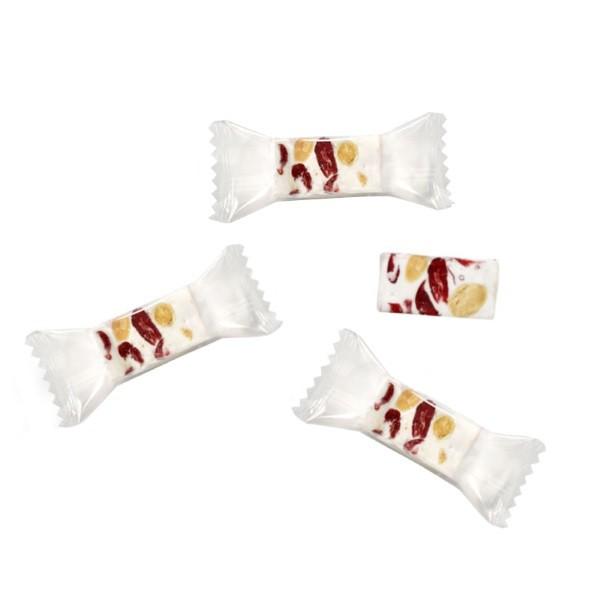 Honignougat Stücke mit Cranberries, einzelverpackt als Flowpack