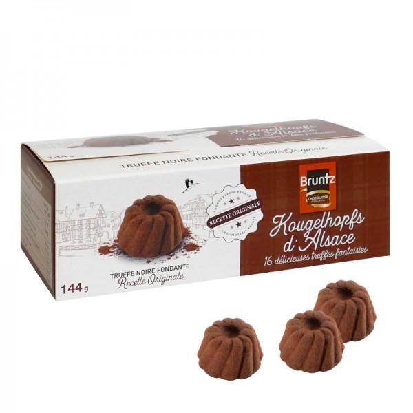 Bruntz - 16 Stk. Kougelhopfs d'Alsace (Kakaokonfekt in Gugelhupfform) 144 g