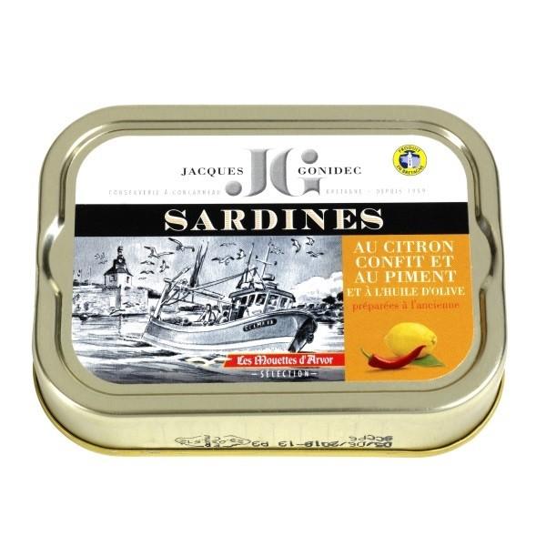 Gonidec - Sardinen mit Zitrone & Piment in Olivenöl 115 g