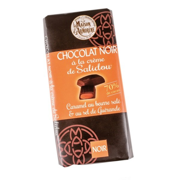 Zartbitterschokoladentael mit Karamellcrèmefüllung Salidou