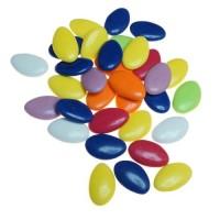 Schokoladendragées in Multicolor seidenmatt glänzend