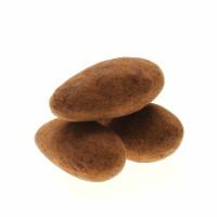 Mandeln mit Überzug aus Zartbitterschokolade und Kakao