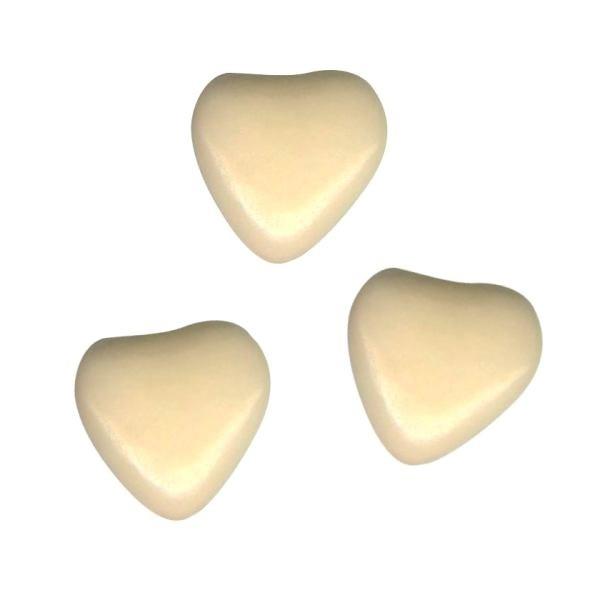 Herzchen Schokoladendragées Creme