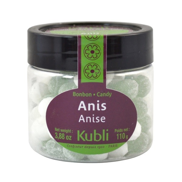 Anis-Bonbons in transparenter Dose 110 g