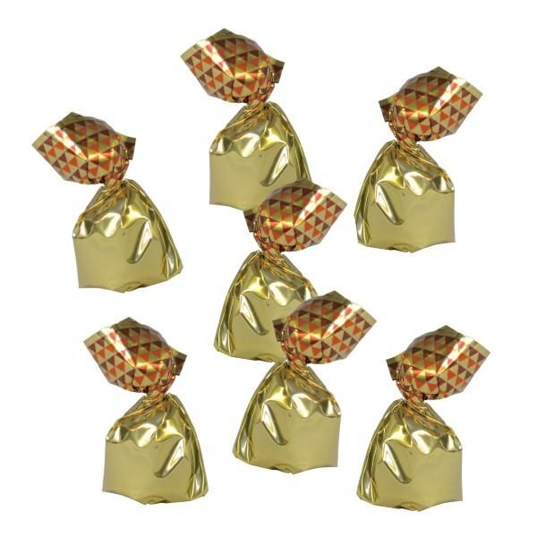Goldengewickelte Truffes Fantaisie (Kakaokonfekt)